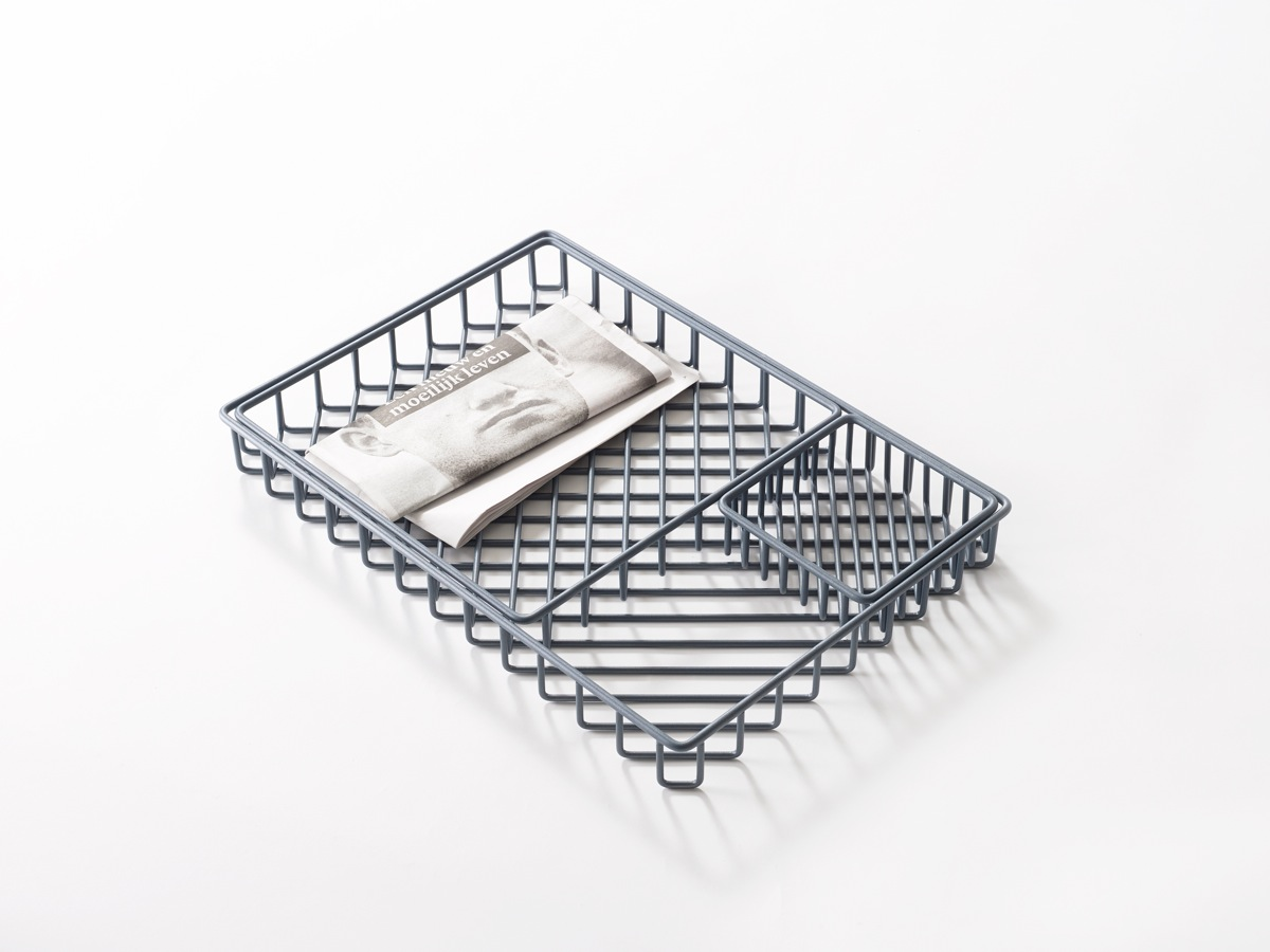Dutch brand Frederik Roijé presented their 'Texture Tray' that created patterns as you stacked the individual items.