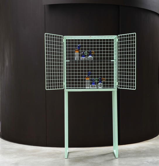 'Les Volieres' cabinet by Cristina Celestino - a new item for Seletti was on show at Rossana Orlandi along with a number of other industrially influenced new Seletti pieces.