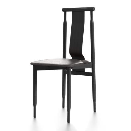 The Castiglioni brothers 'Liera' chair from 1961. The surprisingly comfortable dining chair is being reissued by Meritalia.