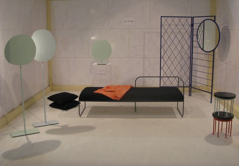 Norwegian designers Vera & Kyte showed a large collection of items - most of which were in lacquered steel.