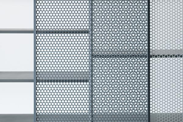 A detail of Junpei Tamaki's 'Snowscape' cabinet.