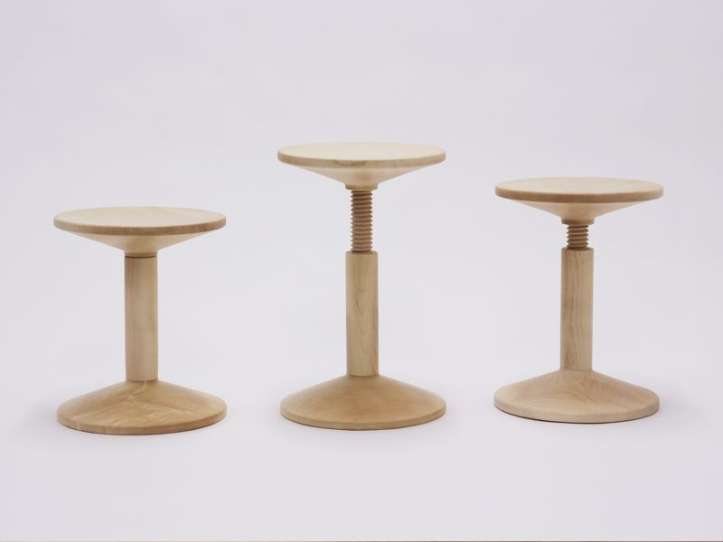 Karoline Fesser's 'All wood' stool. Photography by Sven Lützenkirchen.