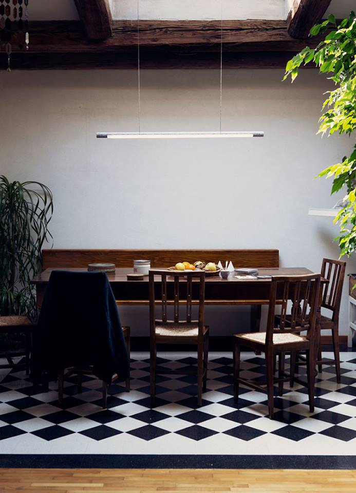 From Industrial Design's award winning 'Volta' light was inspired by the work of  Ingo Maurer.