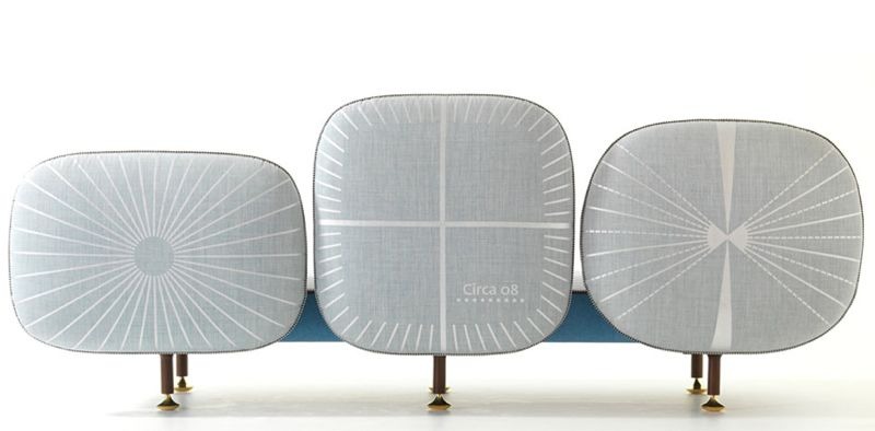 The back of  the 'My Beautiful backside' sofa is a work of art in itself.
