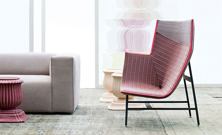 'Paper Planes' started with a fabric designed for Swarovski Crystal and developed into a chair for Moroso.