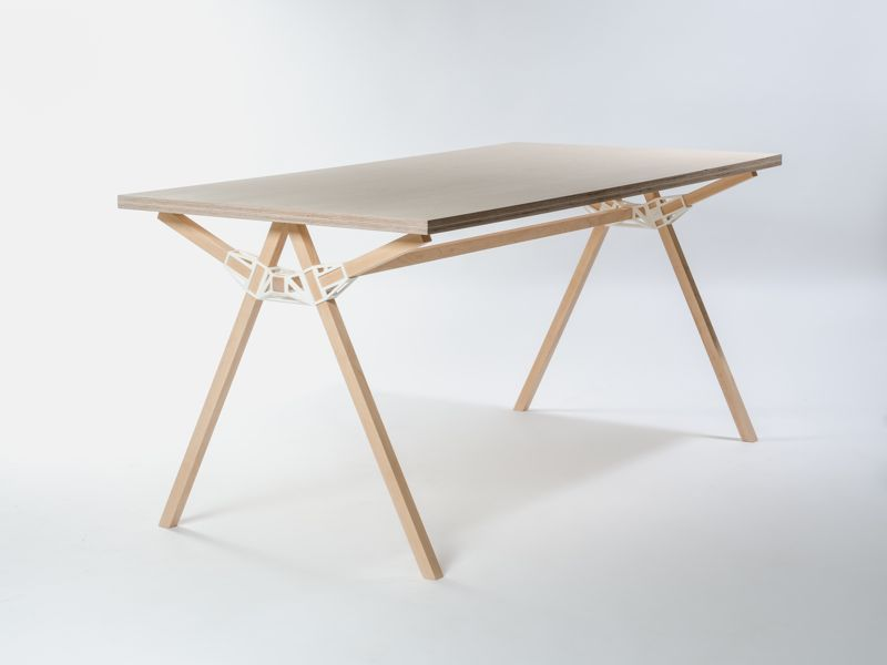 And the winner is........The 'Keystones' table by Minale Maeda with it's signature 3D printed joining mechanism.