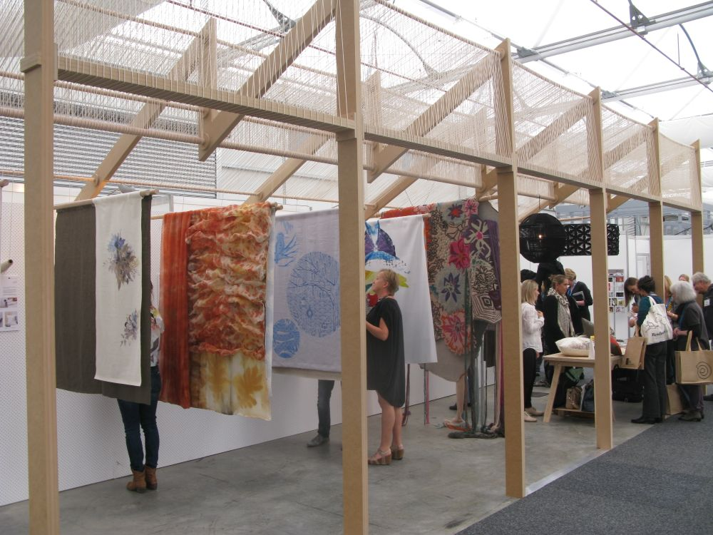 The  Interwoven  stand gave exposure to a number of textile designers working in small batch production or on art pieces.
