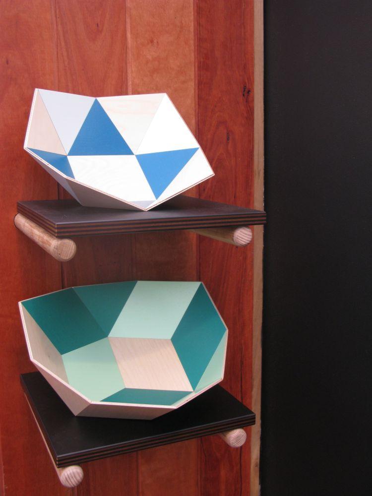 'Tegl' and 'Kurv' bowls by Stephen Ziguras.
