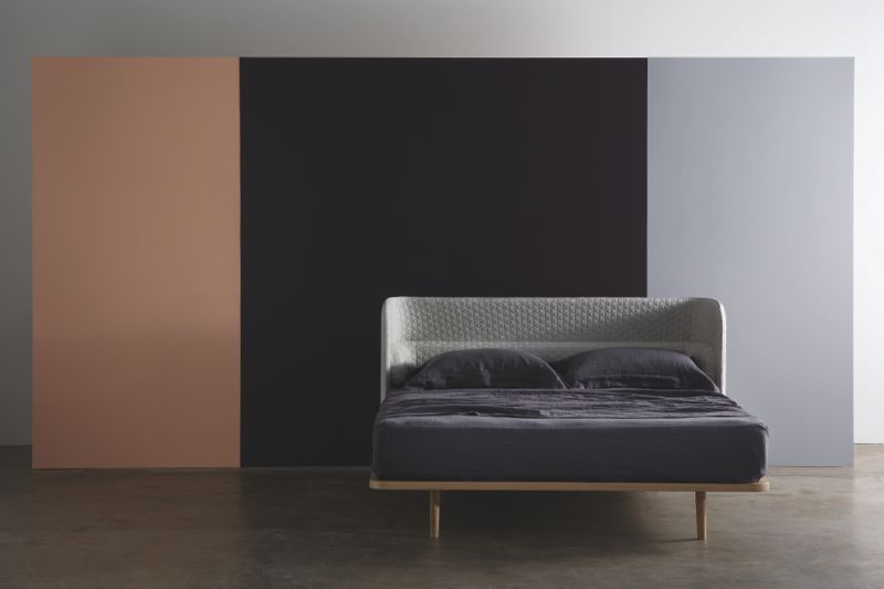 The 'Aran' bed - minimal but comfy. Thankfully, due to a padded internal 'shelf', only two pillows are required.