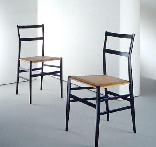 The 1957 'Superleggera' chair produced by Cassina.