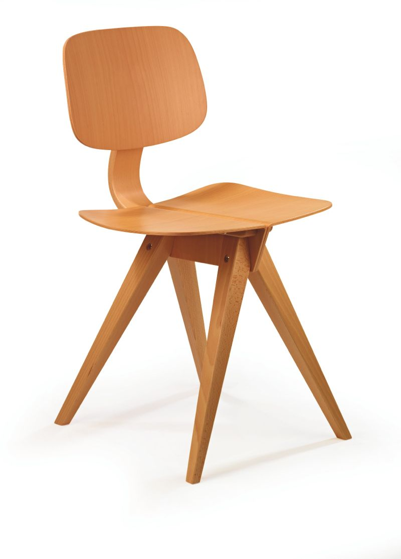 The 'Mosquito' chair in beech.