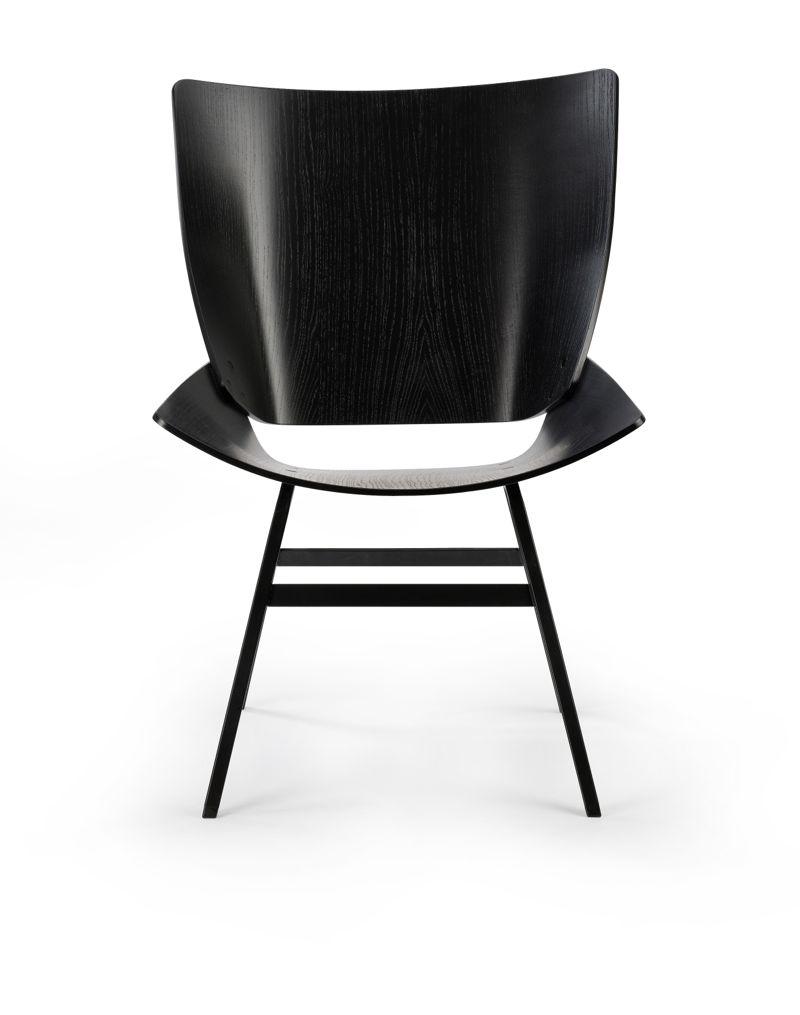 Niko Kralj's 'Shell' chair - front view.