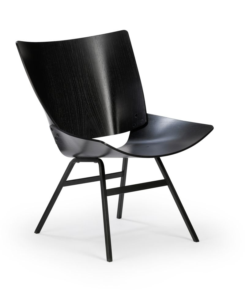 The 'Lupina' or 'Shell' lounge chair designed in 1956. The final version of the chair went into production in 1959.