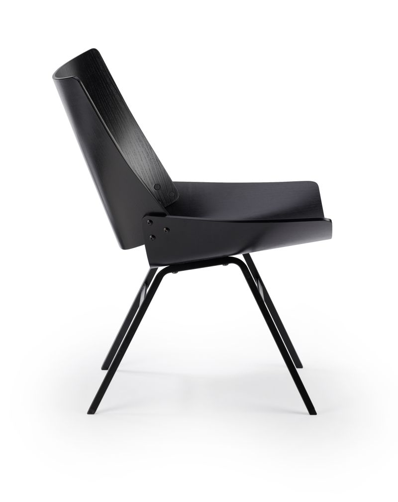 A side view of the 'Shell' lounge chair by Niko Kralj.