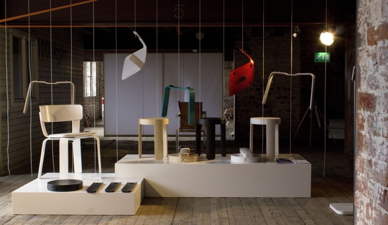 A shot of some of the early pieces from One Nordic Furniture Company, featuring the 'Bento' chair and 'PAL' stool.