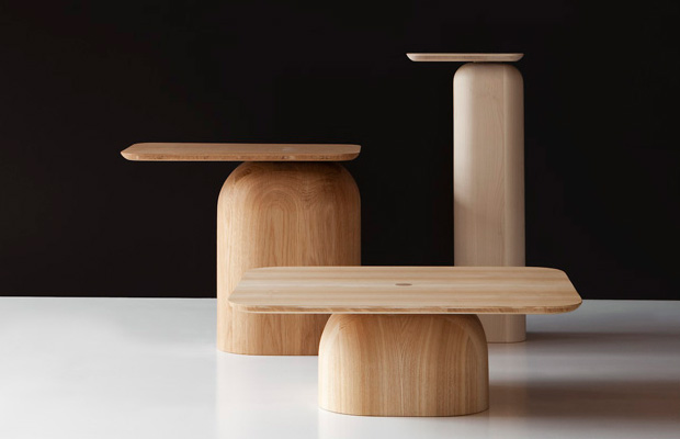 The 'April' side tables by Alfredo Häberli create an entirely different aesthetic to most of the Nikari range.