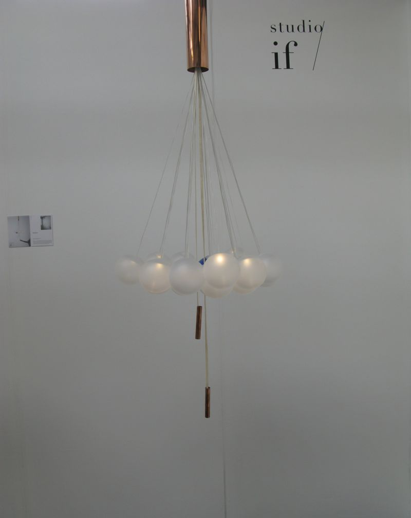 Studio if's 'Random' light comes in two sizes with 22 (shown) or 14 glass balls - each with a 1 watt LED.