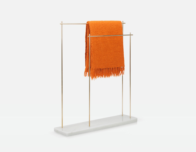 'Towel handle' clothes hanger from Aparentment's 'Marblelous Collection'.
