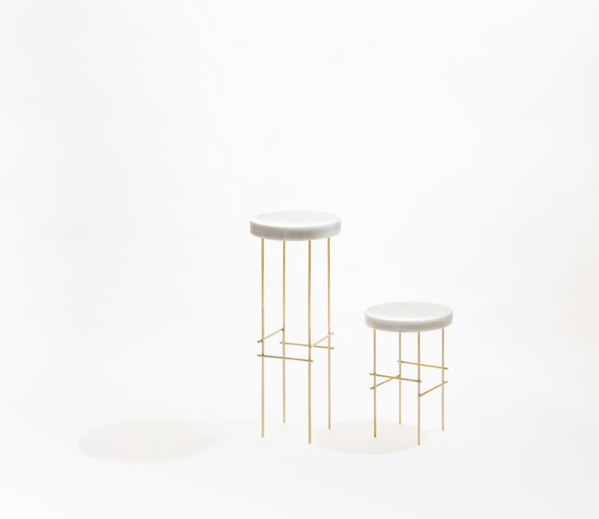 'Pedestal' side tables from Aparentment's 'Marblelous Collection'.