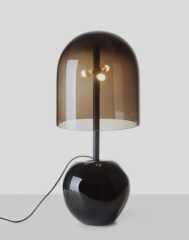 Dechem's 'Antimatter' floorlight is a fluid masterpiece in glass.