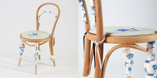 Amanda Talbot's chair utilised the skills of several people in close proximity of her studio - upholsterers and ceramicists.