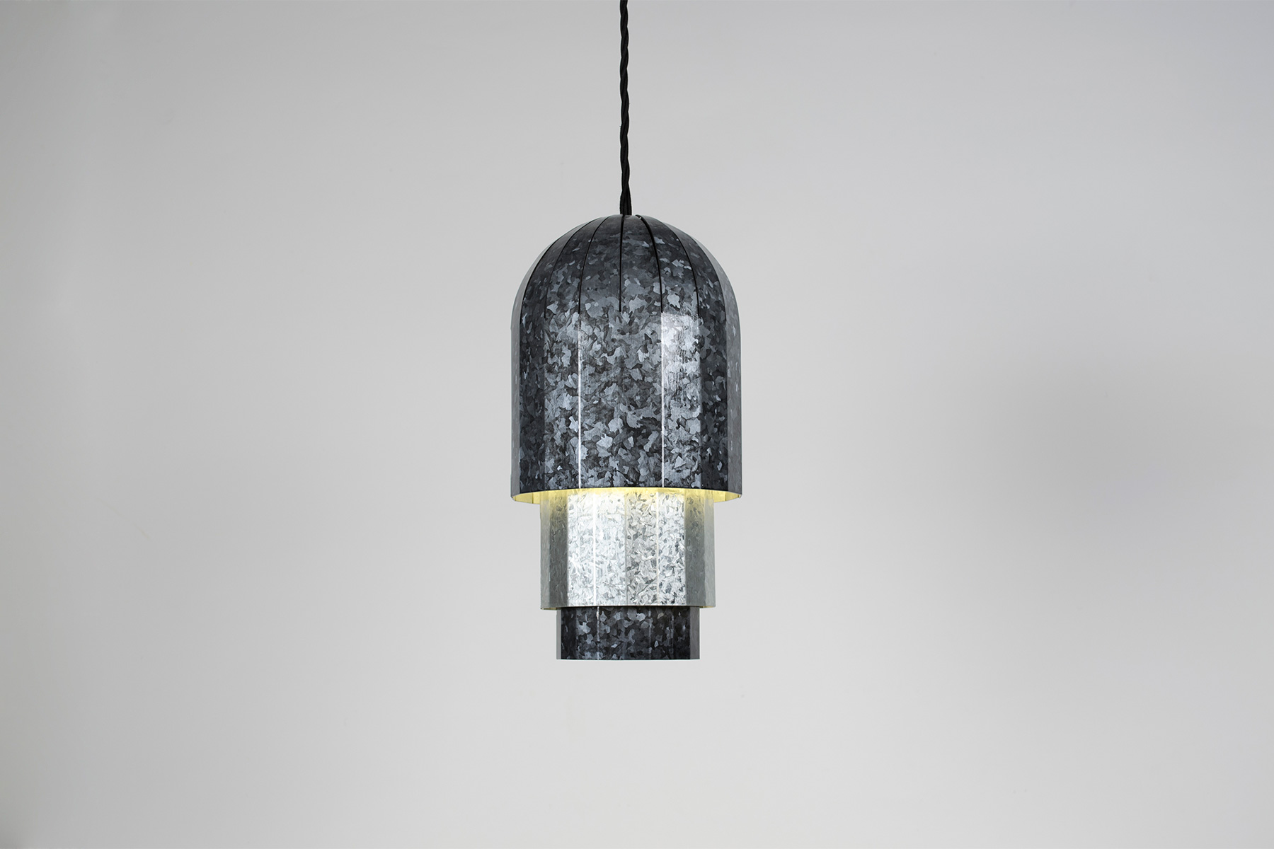 A pendant light from Seubert's new  Regalvanize  project.