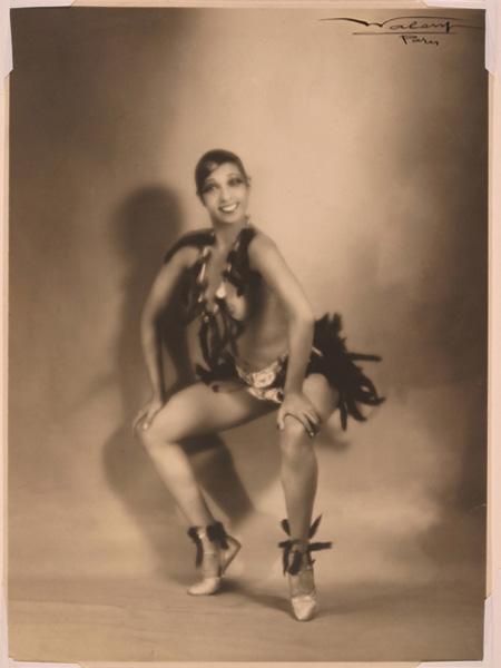 The original image of the dancer Josephine Baker.