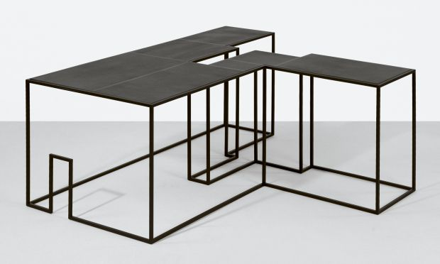 'Coffee table NO. 1' from the exhibition 'Spaces etc' in 2009 shows Gilad's interest in extrapolated architectural forms.