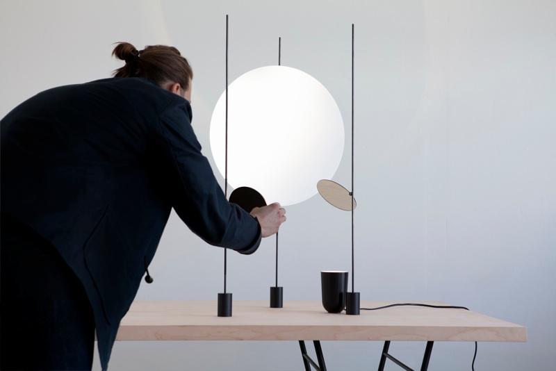 Rybakken setting up his'Ricochet' light at Spazio Rossana Orlandi in 2012. Photography by Kalle Sanner and Daniel Rybakken.