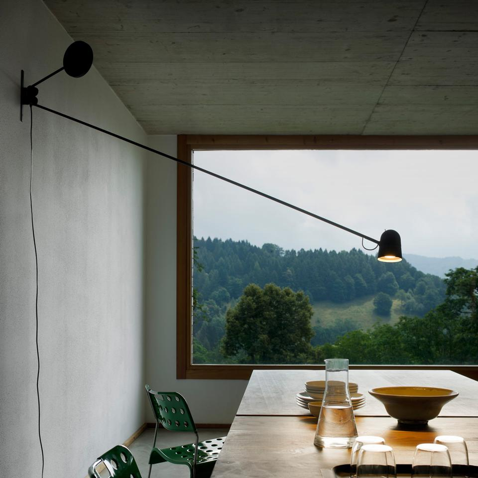 The 'Counterbalance' wall light from 2012 was released by Luceplan in 2013.