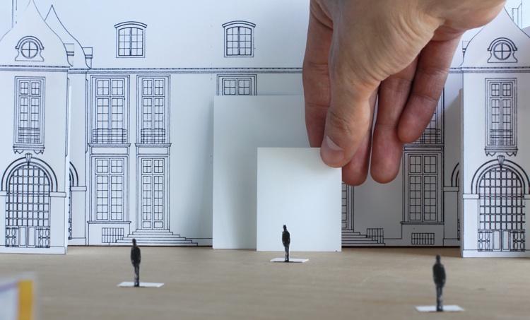 The model for Rybakken's installation at the Swedish Institute in Paris.