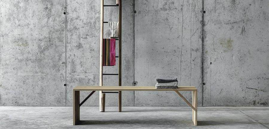 The 'Rascana' ladder by Studio Guscetti (background) 'Tintan' bench by act_romegialli (foreground).