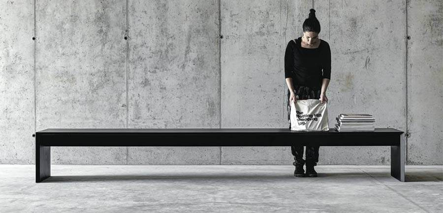 The 'Ombri' bench by Studio Guscetti - one part of a series that also includes a table and low table..