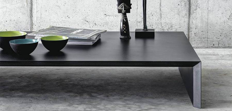 The 'Ombri' low table by Studio Guscetti is very wide and just 20cm high.