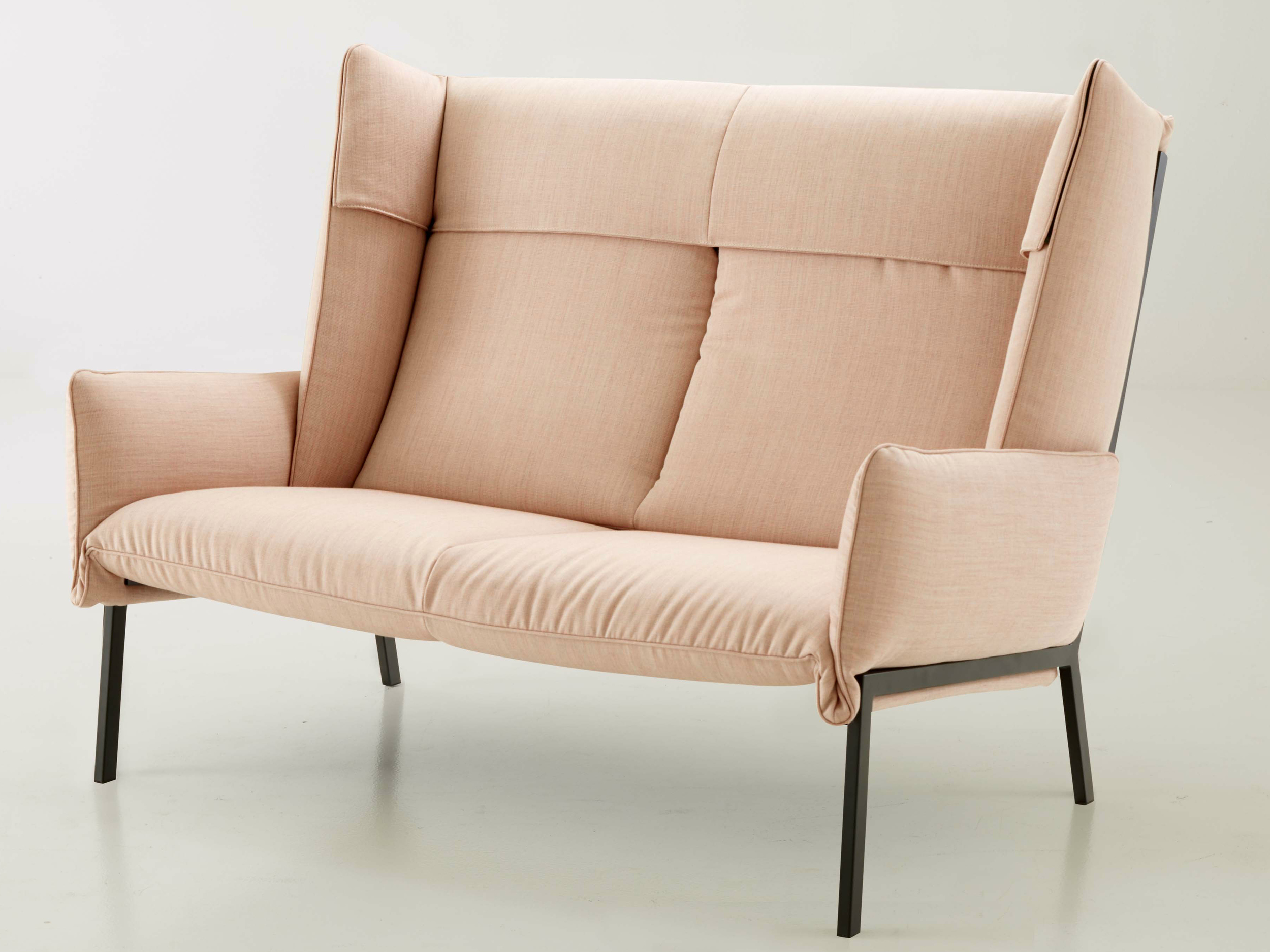 The new 'Beau Fixe' sofa by Inga Sempé for Ligne Roset premiered at Cologne. There is also an armchair.