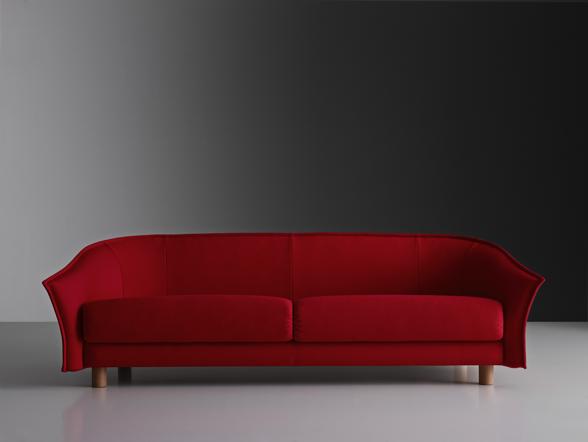 The 'Diva' sofa by Staffan Holm for Swedese. Fairly conventional from the front, it has an unusual profile.