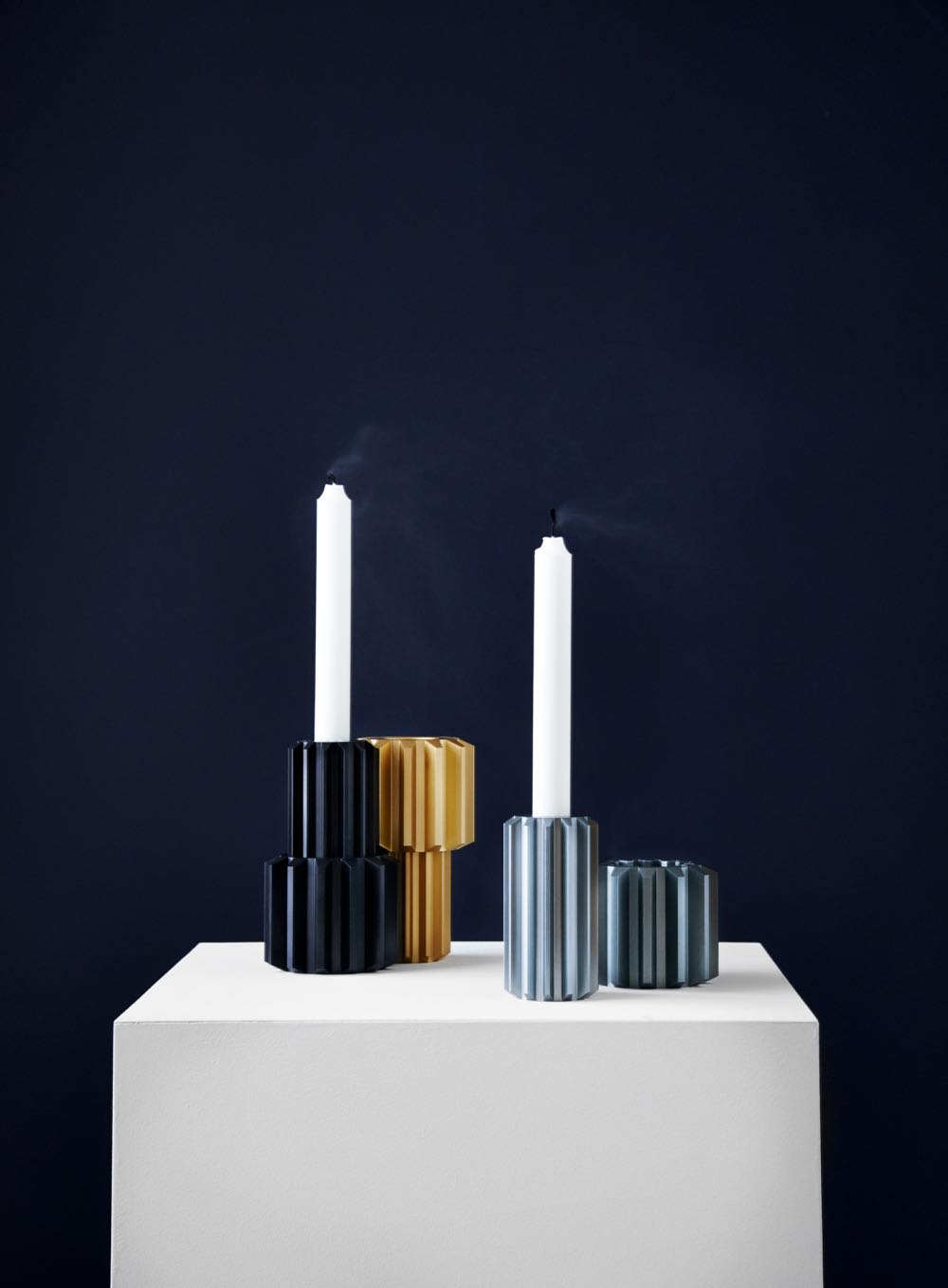 'Gear' candlesticks by Rikke Frost for New Works. One of the original designs from the 2013 collection.
