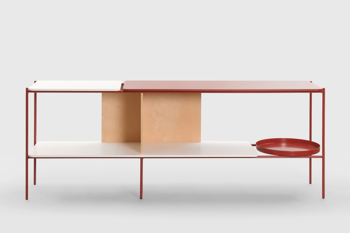 'Candy' shelf in an appropriate shade of candy-apple red.  Photography: SWDO.