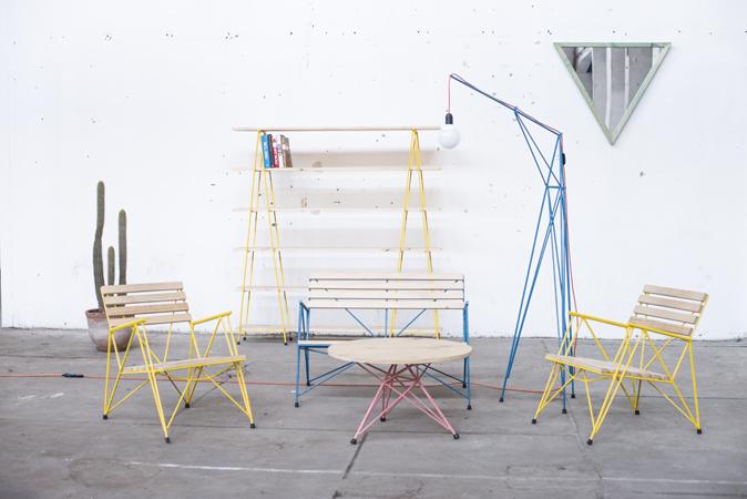 Some of the 'Poligono' collection by Chilean designer/makers, Losgogo.