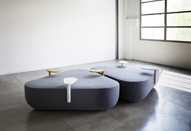 The 'Refill' seating system by Simone Simonelli from Clique Editions 2014 collection.