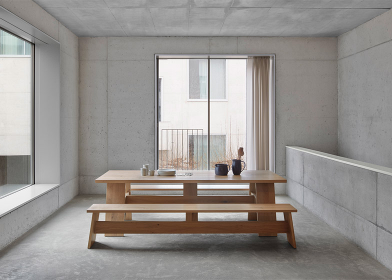 David Chipperfield's new collection of table and bench   for E15  named 'Fayland' and 'Fawley'. There is also a stool called 'Langley'.