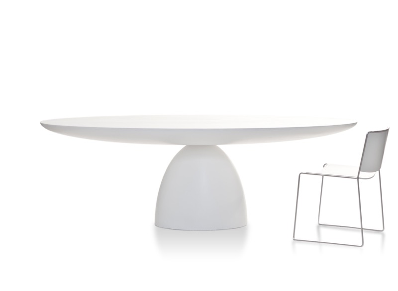 Swedish designers Front are launching a new table called 'Elipse' for Porro.