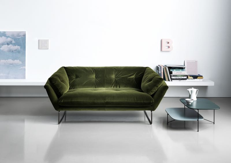 The 'New York' armchair by Sergio Bicego was a big success for Saba Italia in 2013 and that can only mean one thing - a follow up sofa.