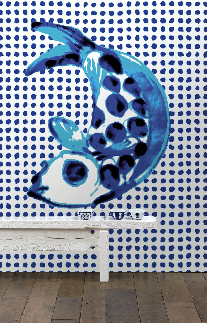 One of Paola Navone's 'Addiction' wallpapers at NLXL. Photo courtesy of NLXL.