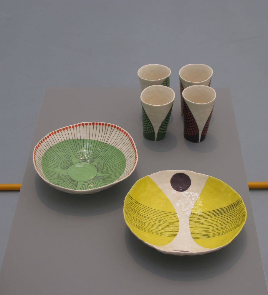 The misshapen ceramics of Andy Ludic contrasted beautifully with the rest of the highly refined products on display.
