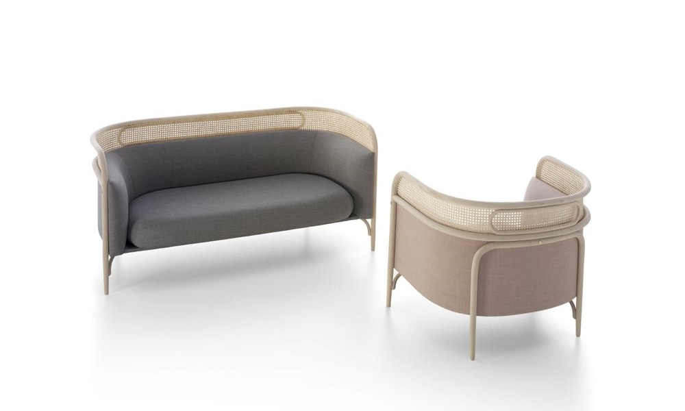 GamFratesi's understated bentwood armchair and sofa called 'Targa' for Gebrüder Thonet Vienna (GTV).