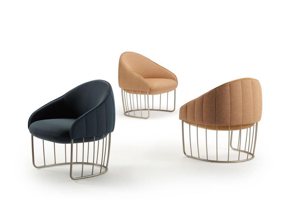 'Tonella' armchairs by Swedish outfit, Note Design Studio for Spanish brand  Sancal .