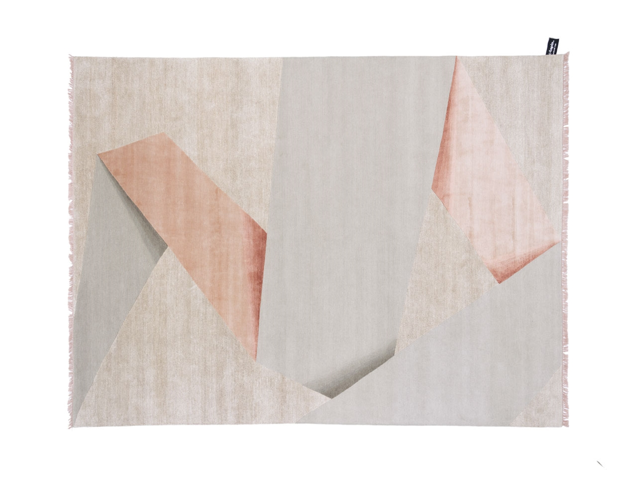 'Ribbon' from the  Dipped Collection  by the cc-tapis design team. Several variations of this design are available: 'Origami', ' Ribbon', ' Cut', 'Frame' and 'Angle' - all in beautifully soft colours.