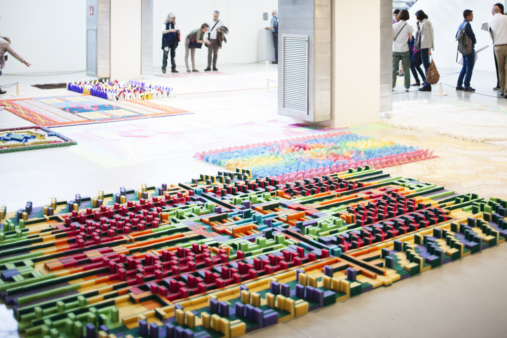 Mu Gallery presented  Kneeling - Five Years of We Make Carpets.  It was nominated for a Milan Design Award. Photo: Craig Wall