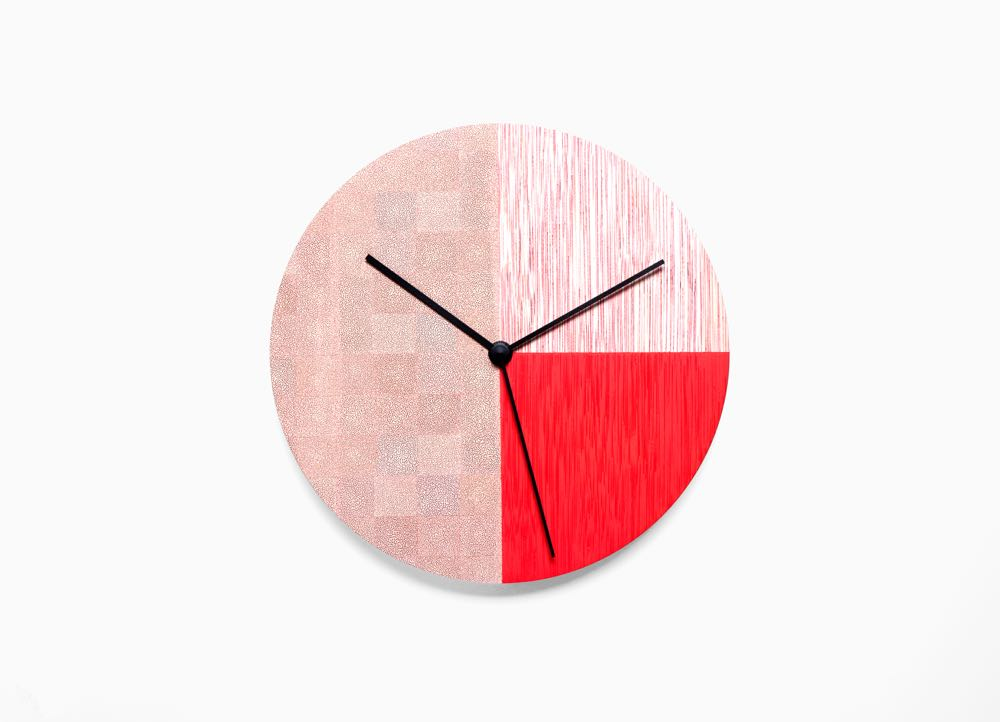 'kc time' clock by ofs (Out for Space) made from rattan, coloured using a special new process called  karuun .